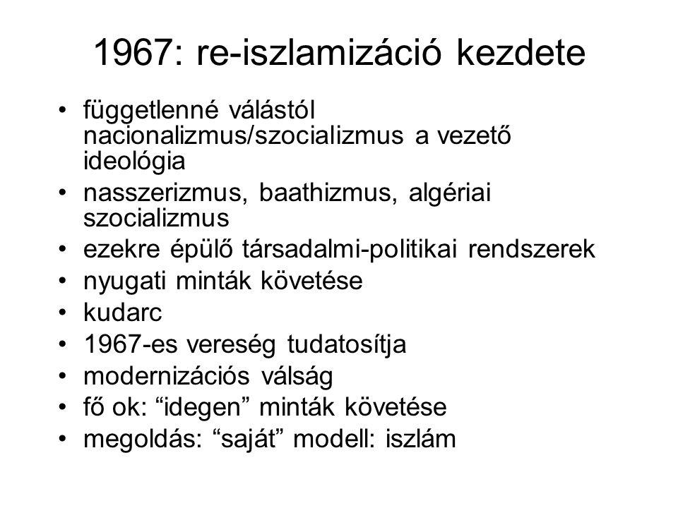 1967: re-iszlamizáció kezdete