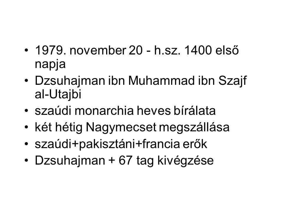 1979. november 20 - h.sz. 1400 első napja