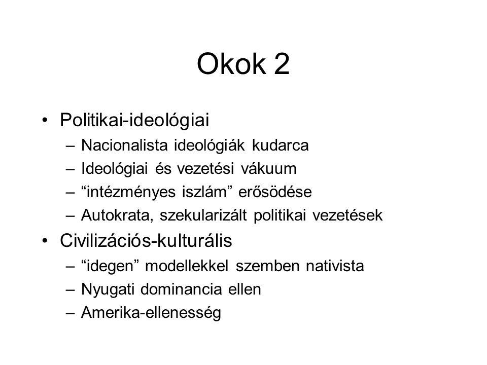 Okok 2 Politikai-ideológiai Civilizációs-kulturális
