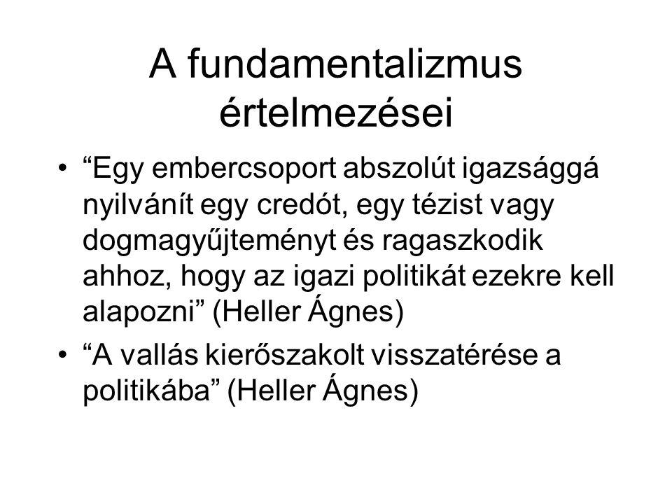 A fundamentalizmus értelmezései