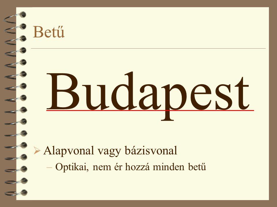 Budapest Betű Alapvonal vagy bázisvonal