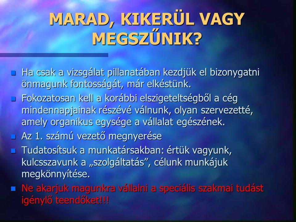 MARAD, KIKERÜL VAGY MEGSZŰNIK