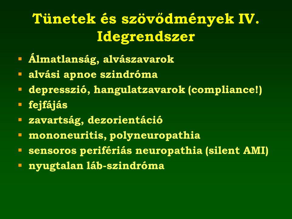 Tünetek és szövődmények IV. Idegrendszer