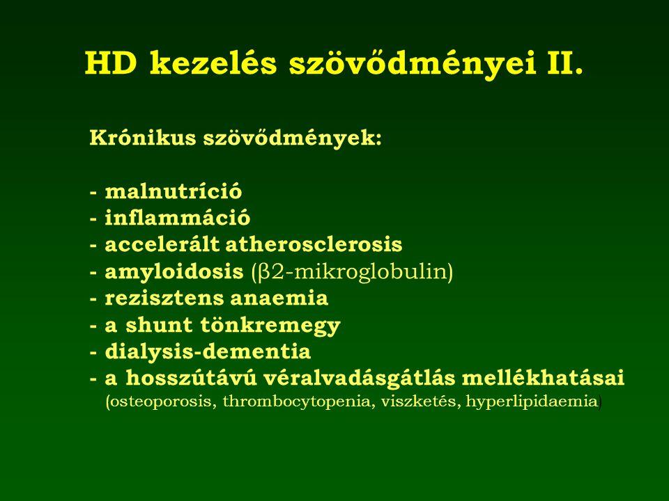 HD kezelés szövődményei II.