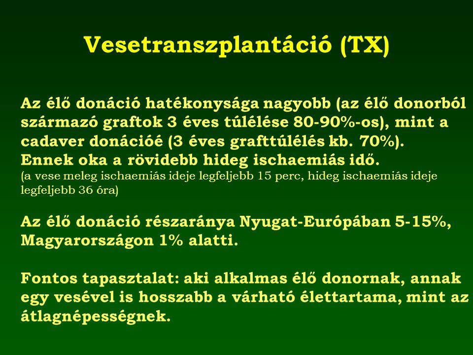 Vesetranszplantáció (TX)