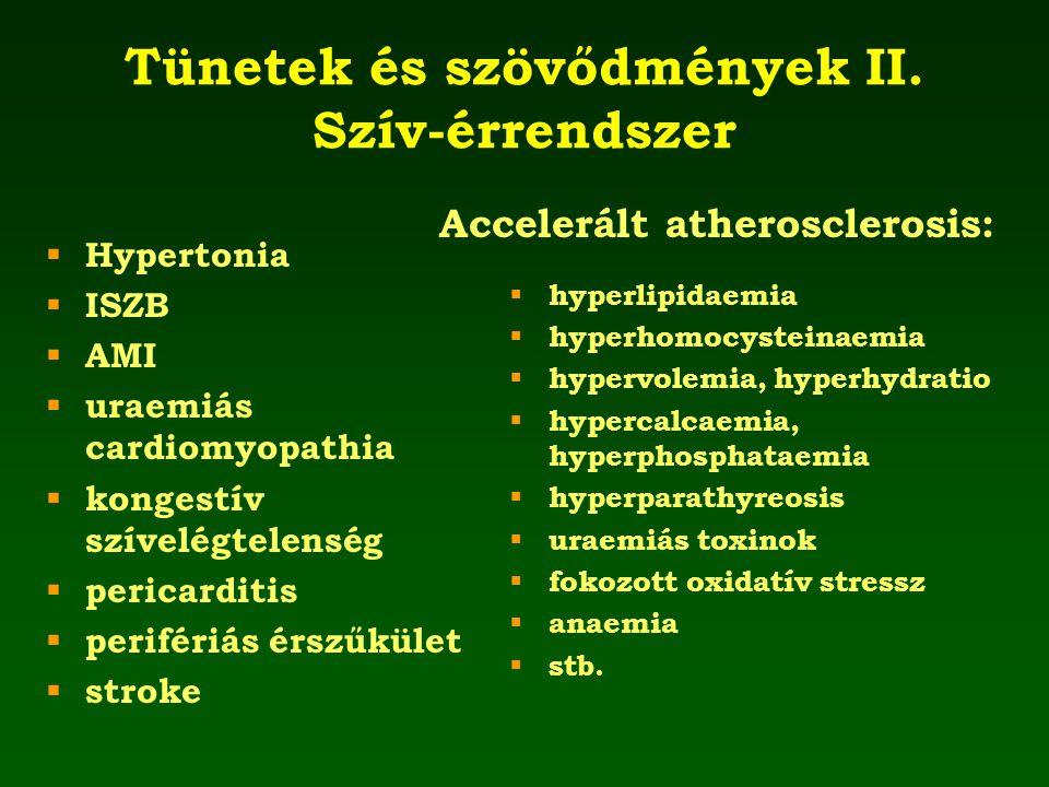 Tünetek és szövődmények II. Szív-érrendszer