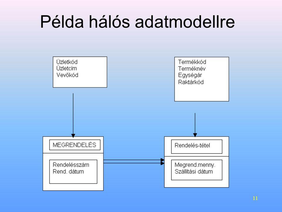 Példa hálós adatmodellre