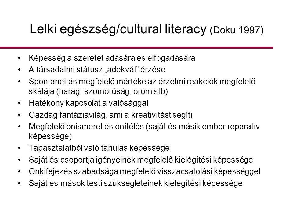 Lelki egészség/cultural literacy (Doku 1997)