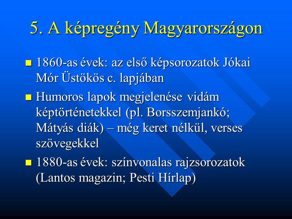 5. A képregény Magyarországon