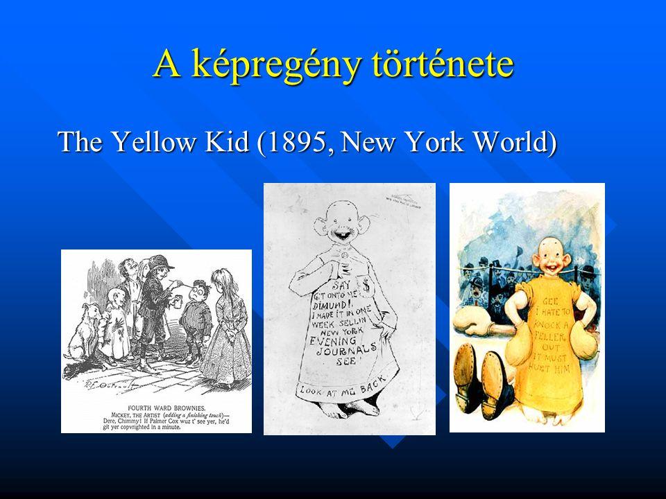 A képregény története The Yellow Kid (1895, New York World)