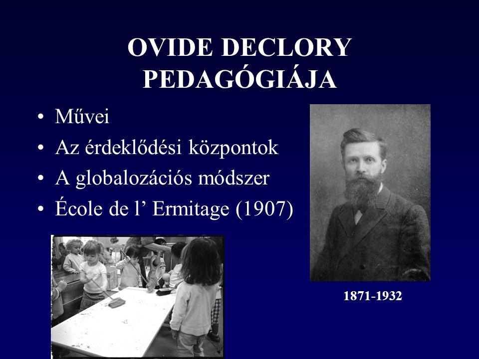 OVIDE DECLORY PEDAGÓGIÁJA