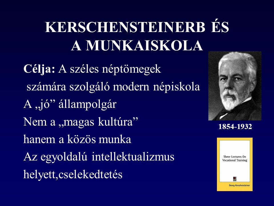 KERSCHENSTEINERB ÉS A MUNKAISKOLA