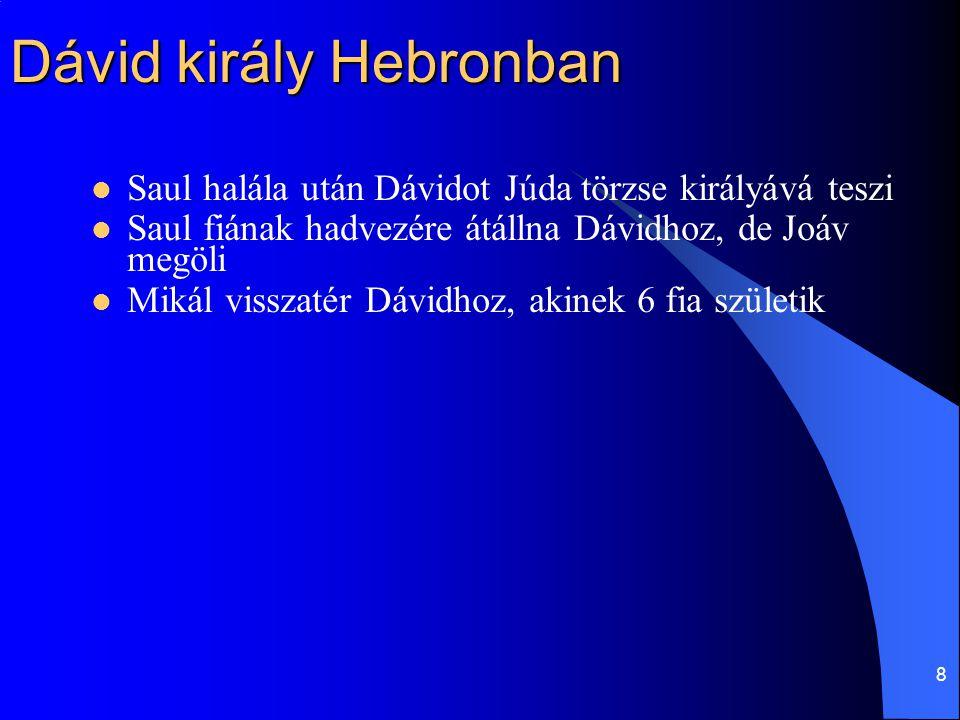 Dávid király Hebronban