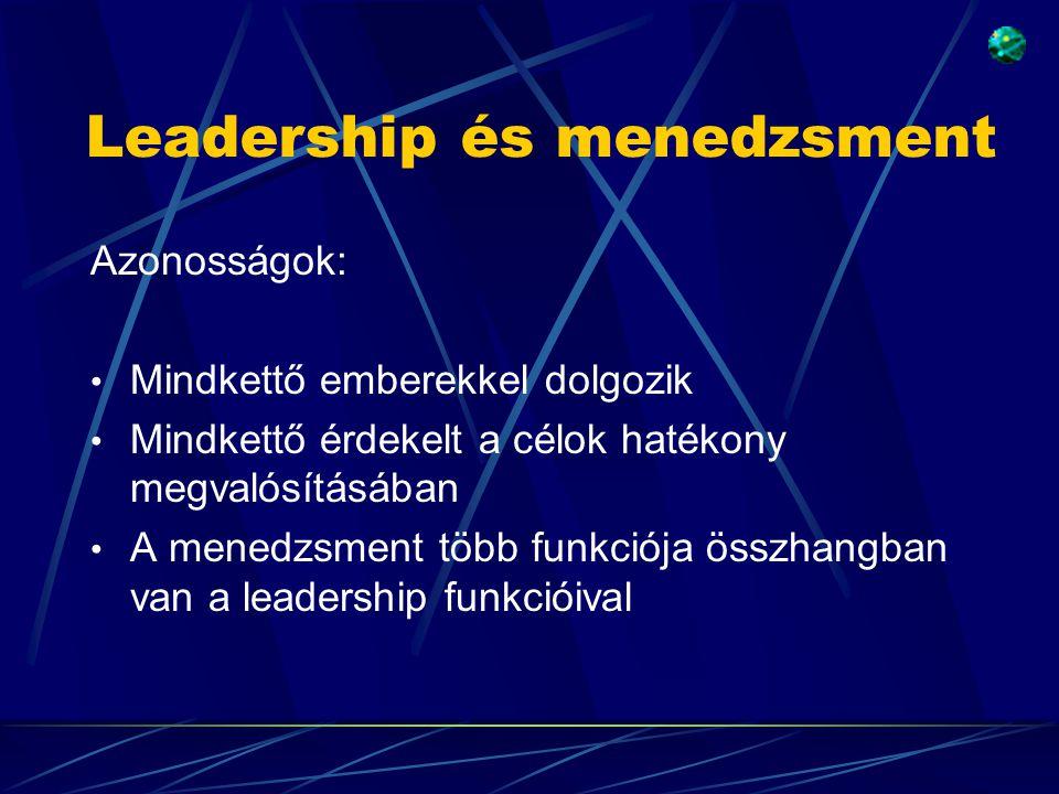 Leadership és menedzsment