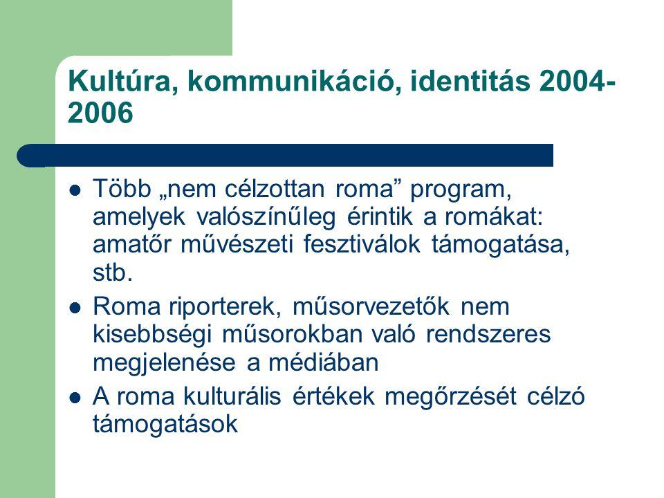 Kultúra, kommunikáció, identitás 2004-2006