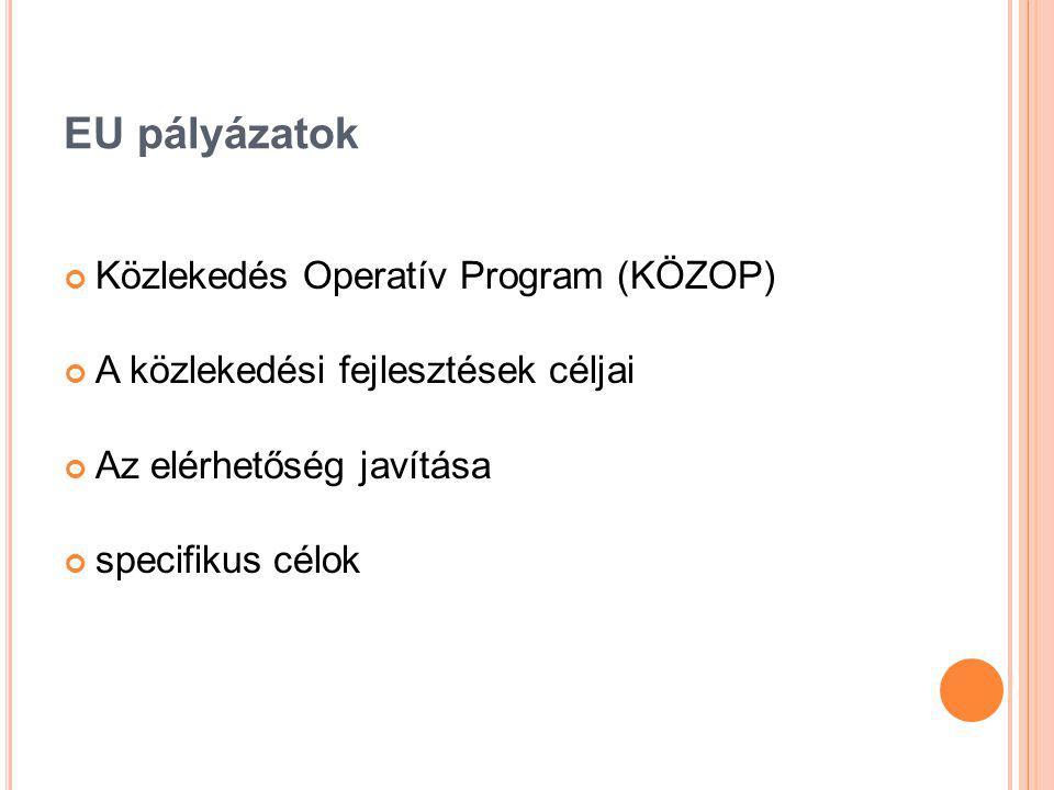 EU pályázatok Közlekedés Operatív Program (KÖZOP)