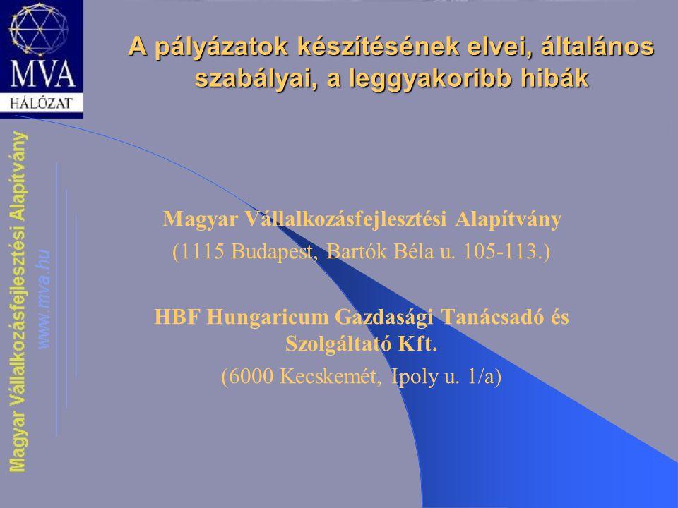 HBF Hungaricum Gazdasági Tanácsadó és Szolgáltató Kft.