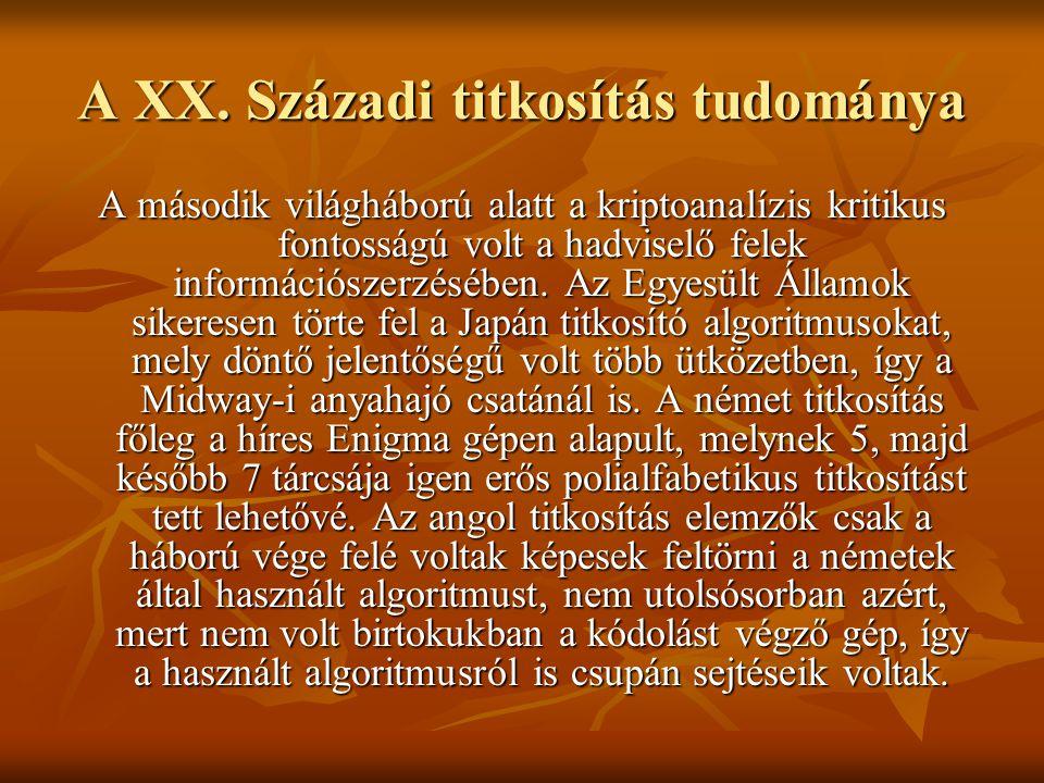 A XX. Századi titkosítás tudománya
