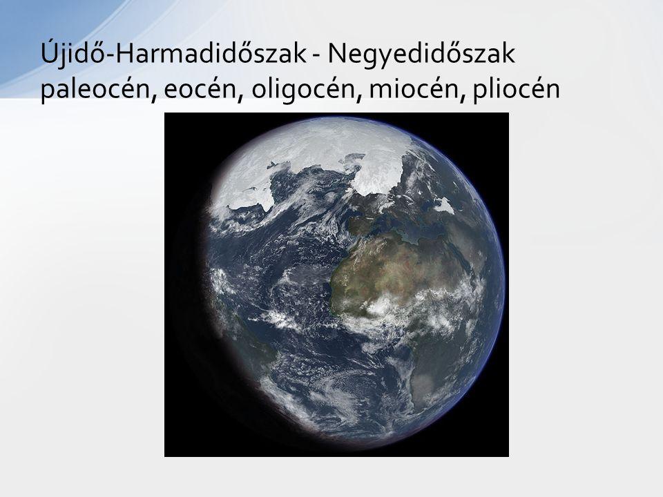Újidő-Harmadidőszak - Negyedidőszak paleocén, eocén, oligocén, miocén, pliocén