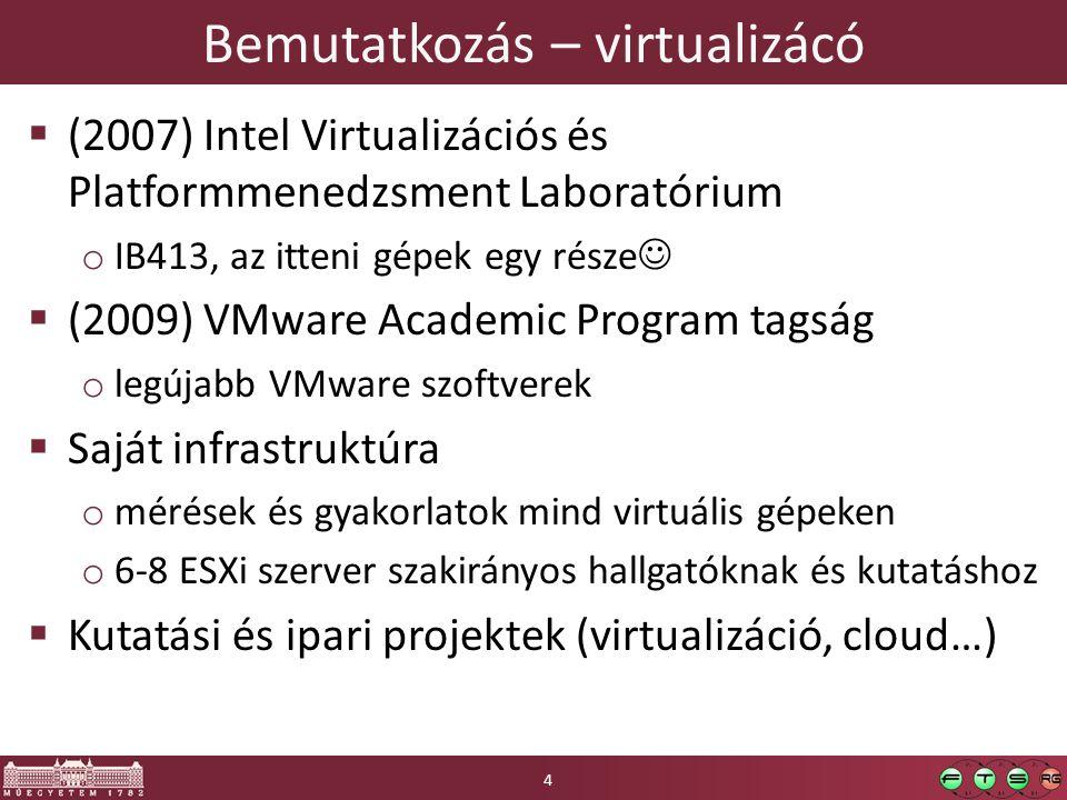 Bemutatkozás – virtualizácó