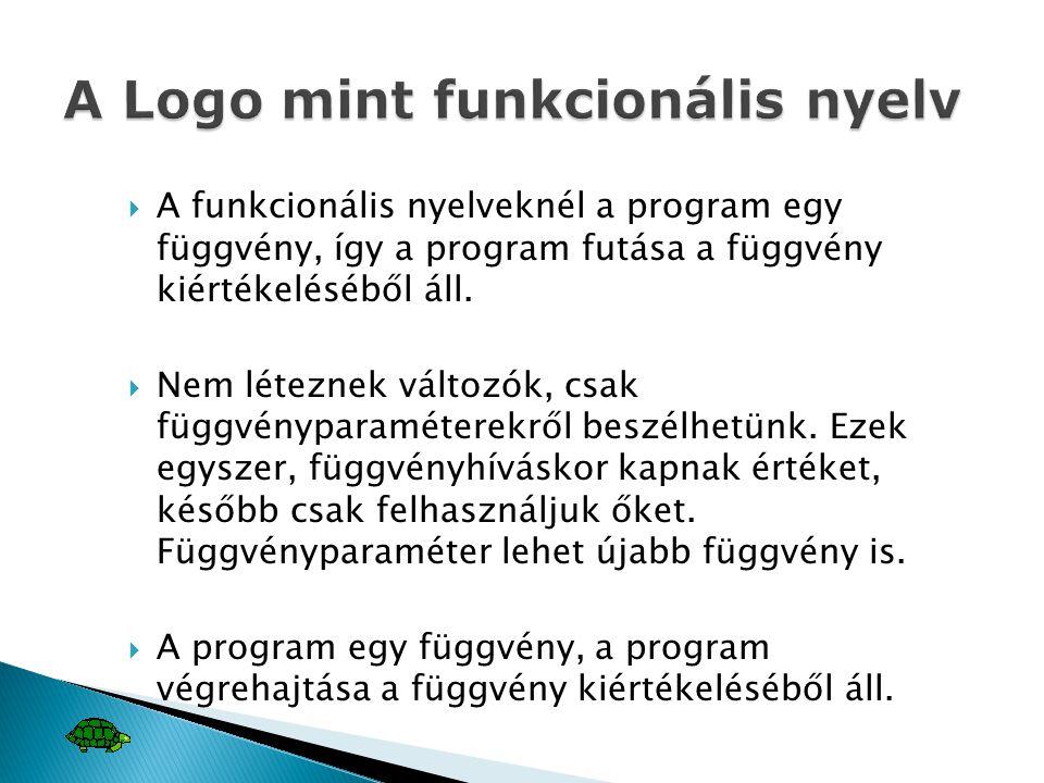 A Logo mint funkcionális nyelv