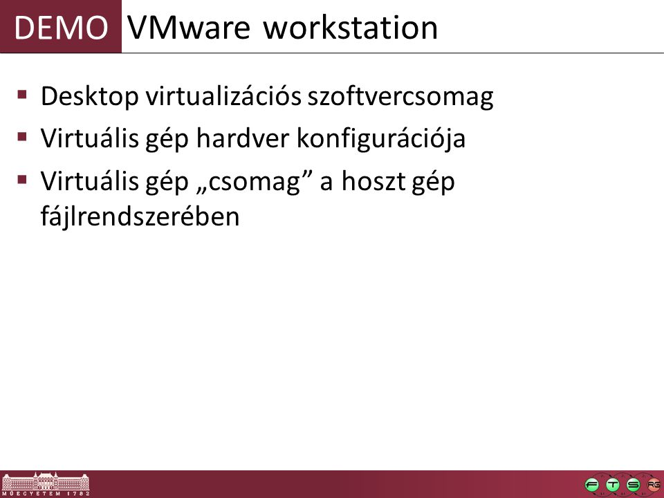 VMware workstation Desktop virtualizációs szoftvercsomag