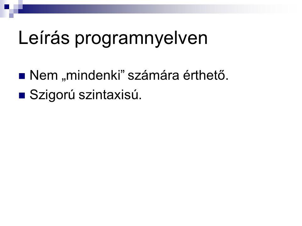 Leírás programnyelven