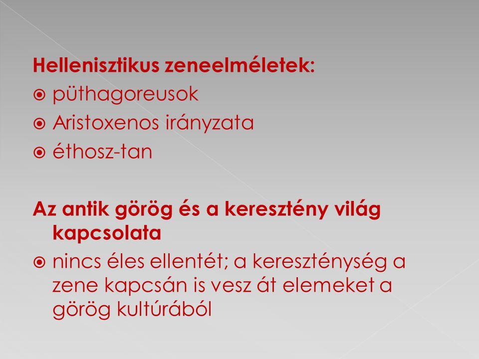 Hellenisztikus zeneelméletek:
