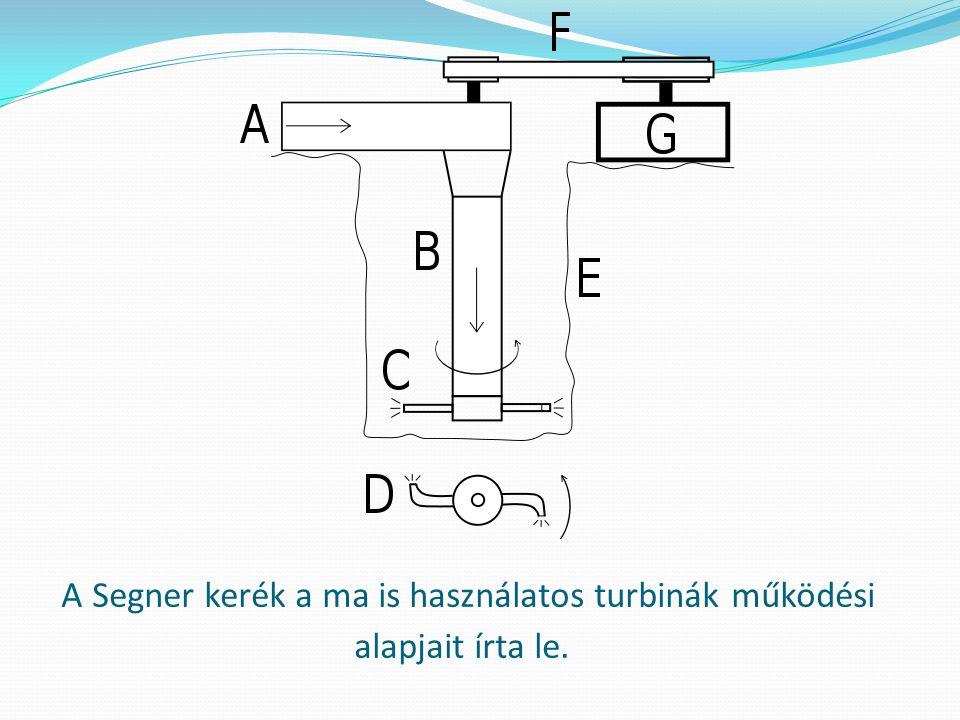 A Segner kerék a ma is használatos turbinák működési alapjait írta le.