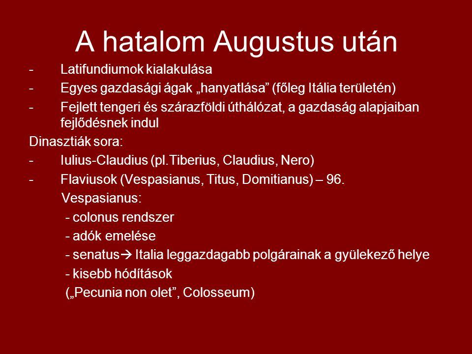 A hatalom Augustus után