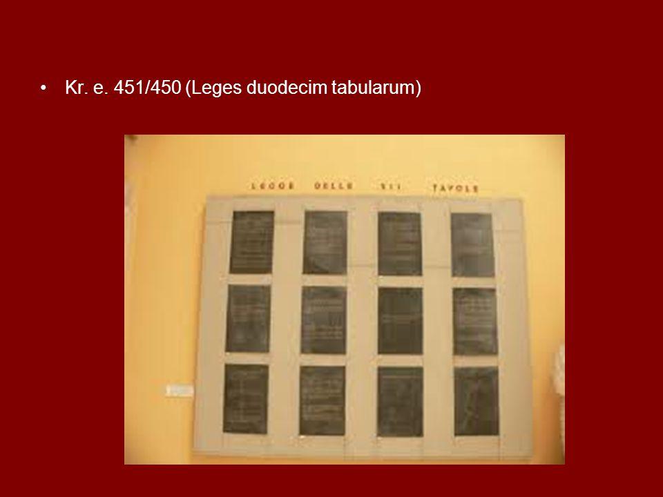 Kr. e. 451/450 (Leges duodecim tabularum)