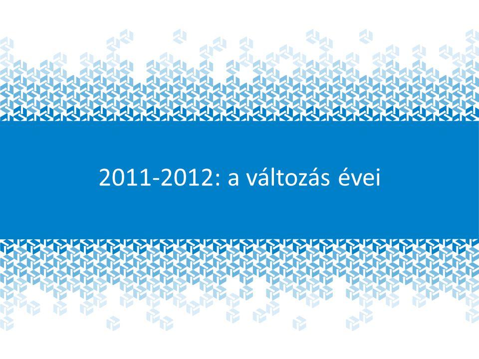 2011-2012: a változás évei