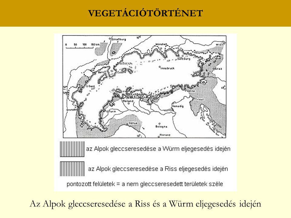 Az Alpok gleccseresedése a Riss és a Würm eljegesedés idején