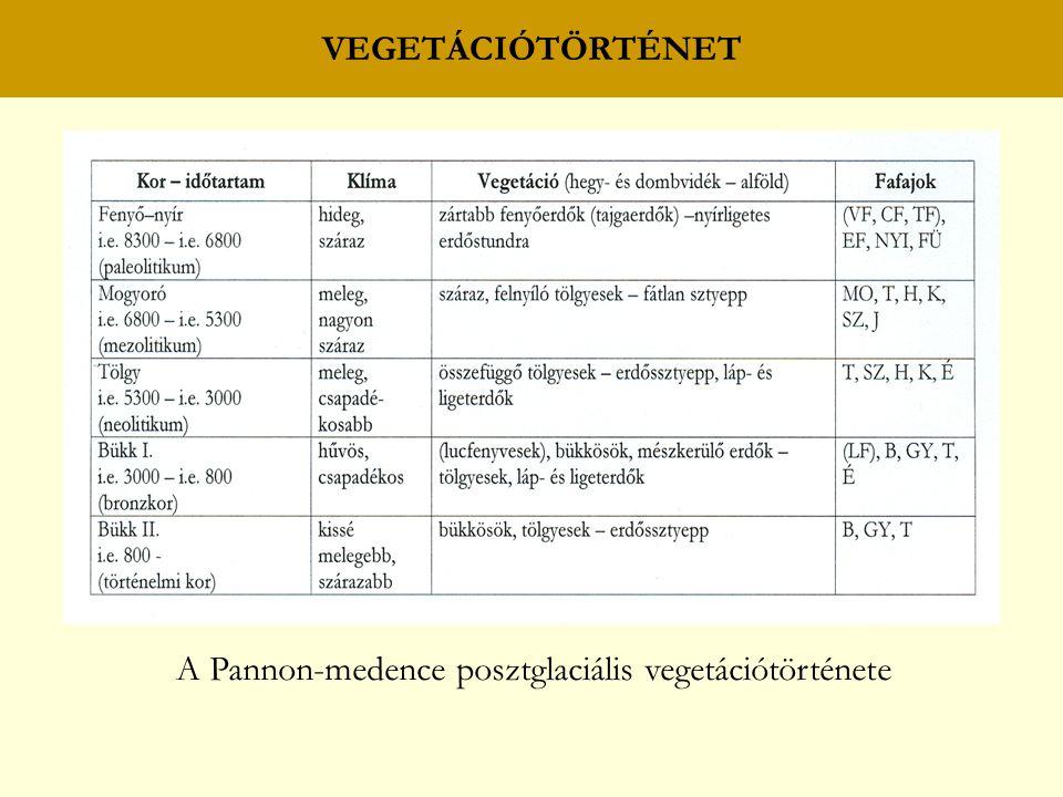 A Pannon-medence posztglaciális vegetációtörténete