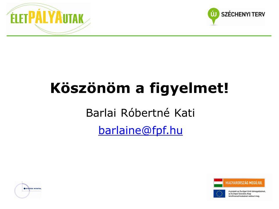 Barlai Róbertné Kati barlaine@fpf.hu