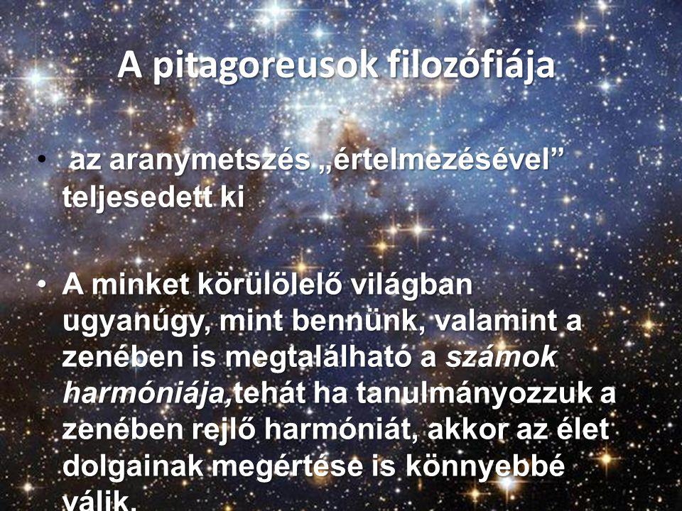A pitagoreusok filozófiája