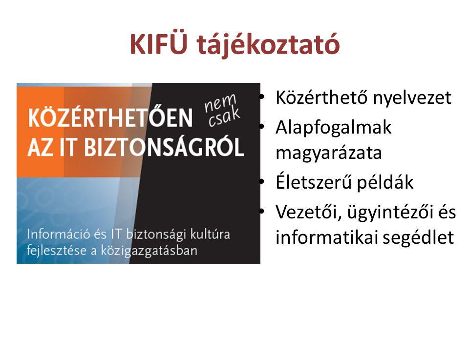 KIFÜ tájékoztató Közérthető nyelvezet Alapfogalmak magyarázata