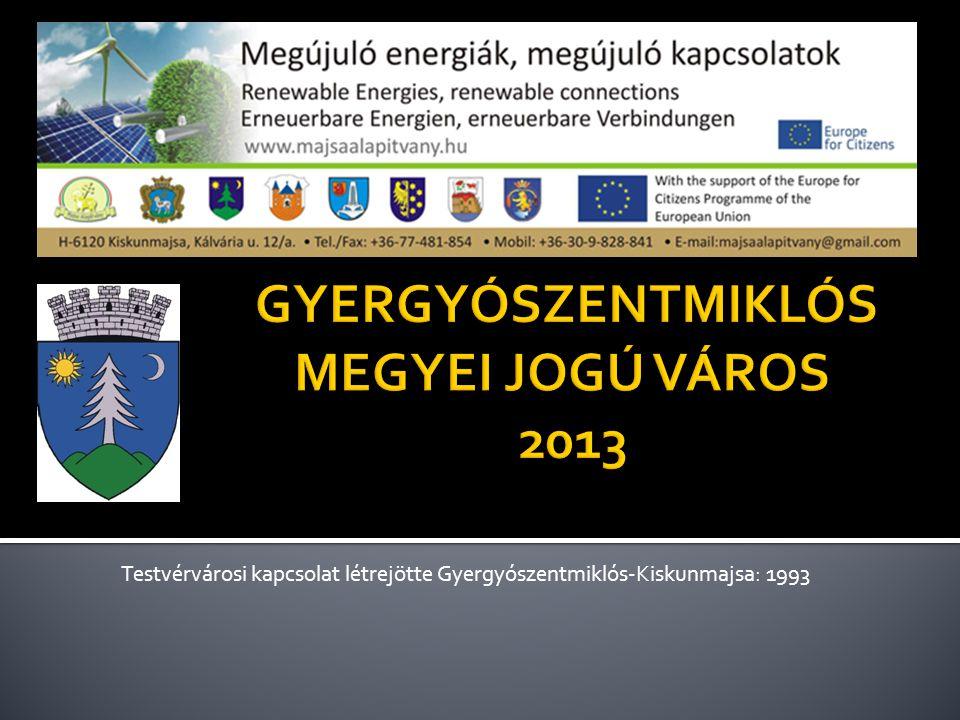 GYERGYÓSZENTMIKLÓS MEGYEI JOGÚ VÁROS 2013