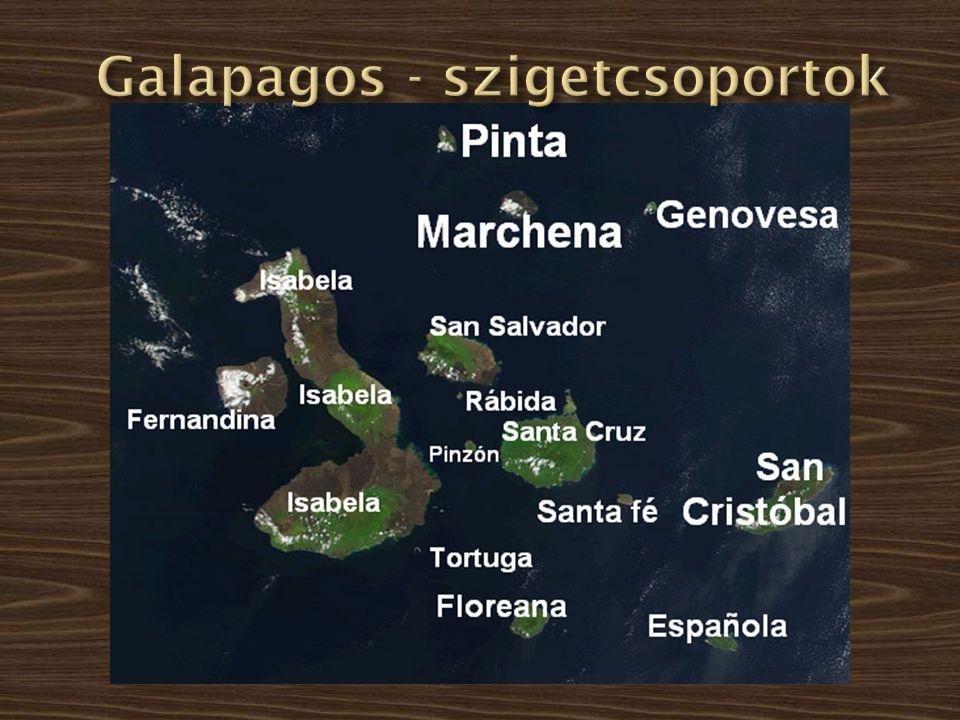 Galapagos - szigetcsoportok