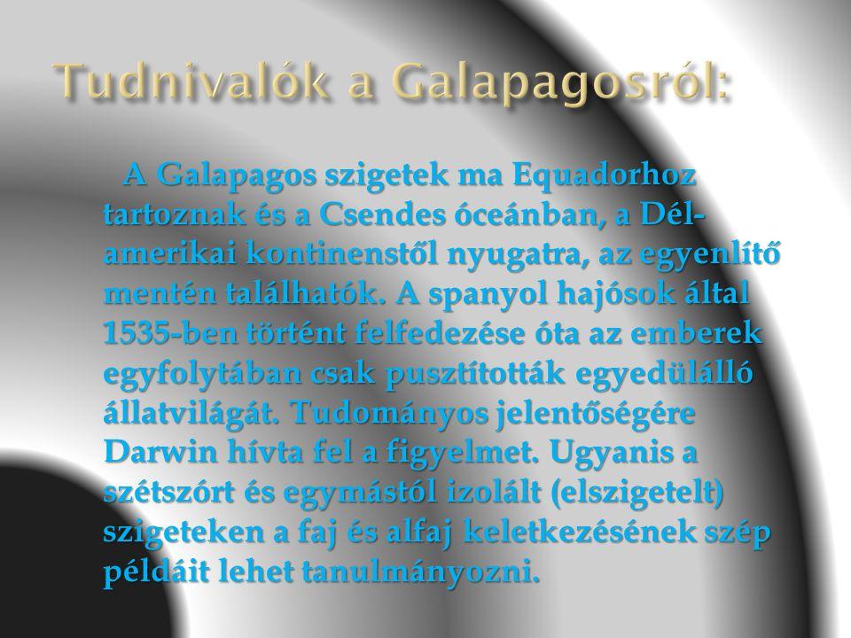 Tudnivalók a Galapagosról: