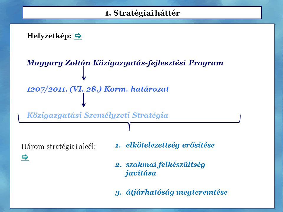 1. Stratégiai háttér  Helyzetkép: 
