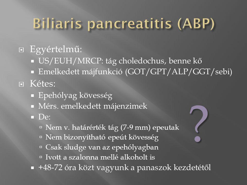 Biliaris pancreatitis (ABP)