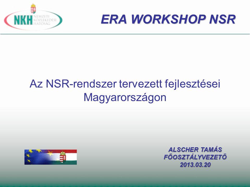 Az NSR-rendszer tervezett fejlesztései Magyarországon