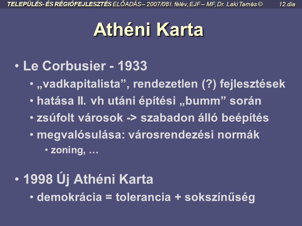 Athéni Karta Le Corbusier - 1933 1998 Új Athéni Karta