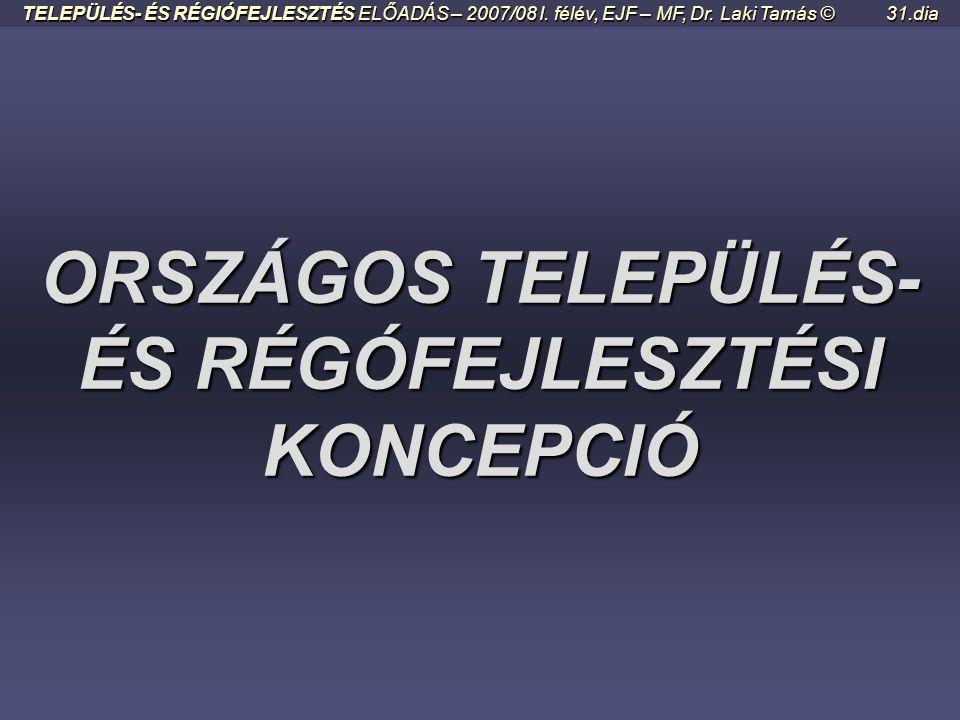 ORSZÁGOS TELEPÜLÉS- ÉS RÉGÓFEJLESZTÉSI KONCEPCIÓ