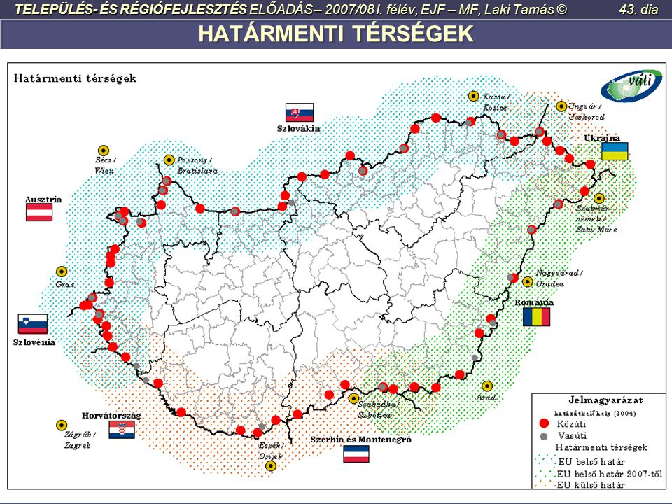 TELEPÜLÉS- ÉS RÉGIÓFEJLESZTÉS ELŐADÁS – 2007/08 I