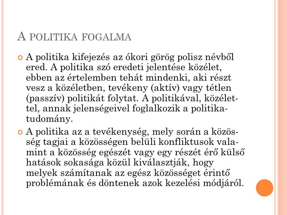 A politika fogalma