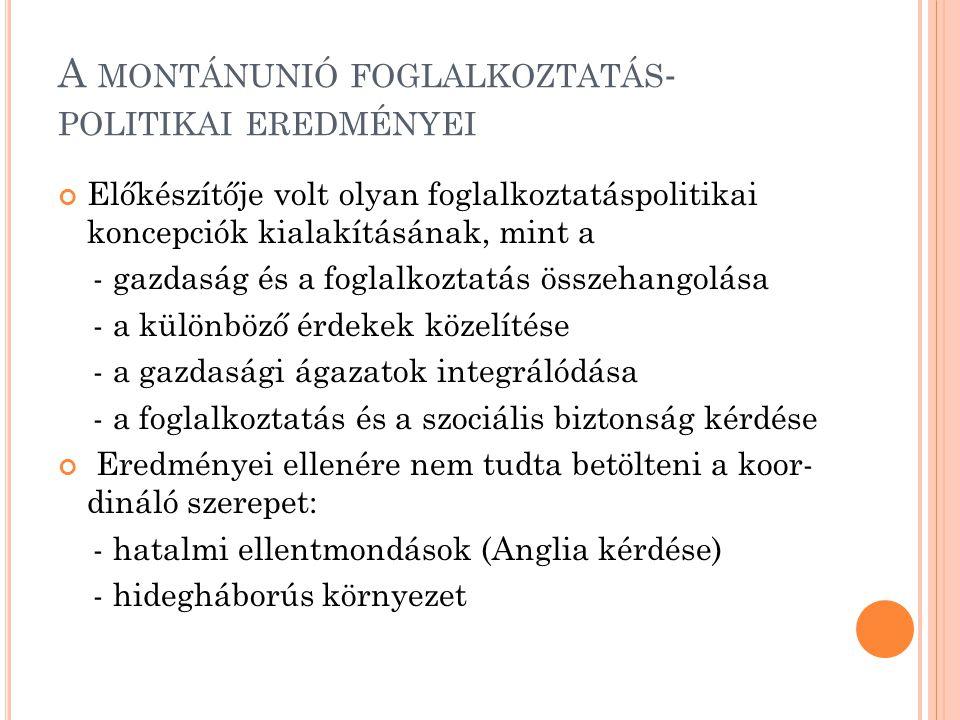 A montánunió foglalkoztatás-politikai eredményei