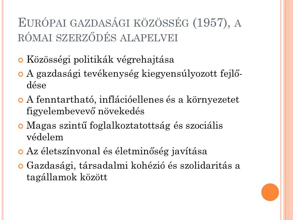 Európai gazdasági közösség (1957), a római szerződés alapelvei