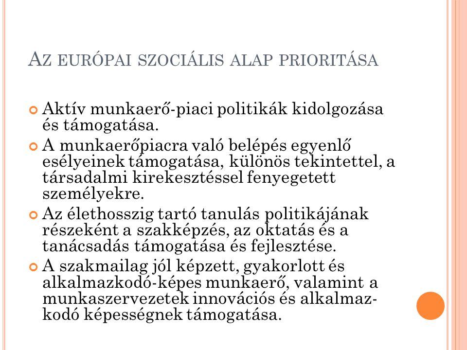 Az európai szociális alap prioritása